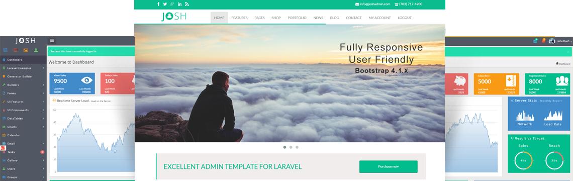 Index - Laravel Admin Panel | Bootstrap Laravel CRUD Builder – JOSH
